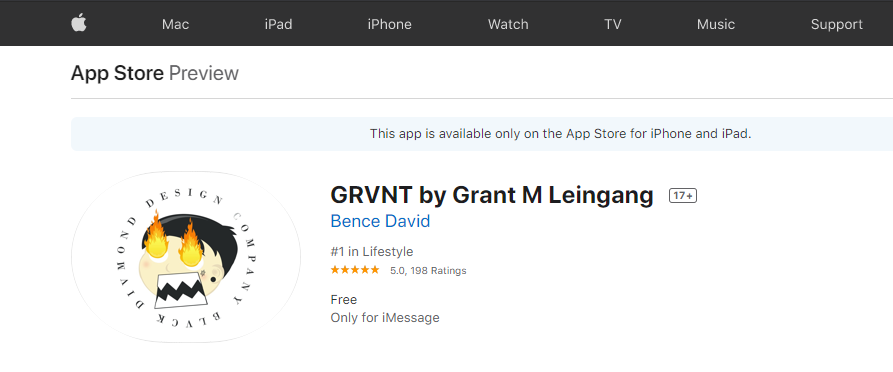 Grant Leingang Hits #1 LifeStyle iOS Apps
